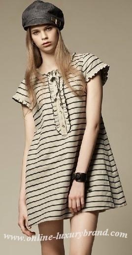 burberry dresses outlet u1zf  New Burberry Dresses 013 Beige-Black [B002987]