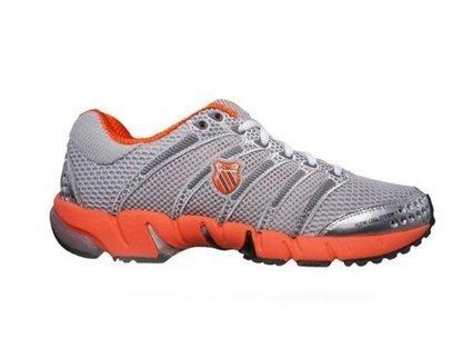 f8e5cc8e7c K-Swiss Women's K-Ona C Running Shoe, Silver/Charcoal/Gator Orange, 8 M US