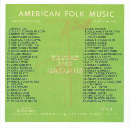 earls psychedelic garden: Anthology of American Folk Music Vol 1 | WNMC Music | Scoop.it
