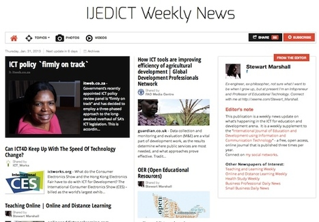 January 31, 2013: IJEDICT Weekly News is out | Studying Teaching and Learning | Scoop.it