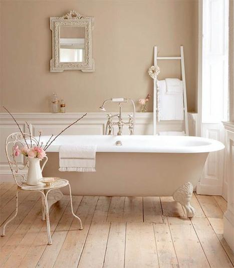 Stylish Bathroom Design with Beige Accent | 2012 Interior Design, Living Room Ideas, Home Design | Scoop.it