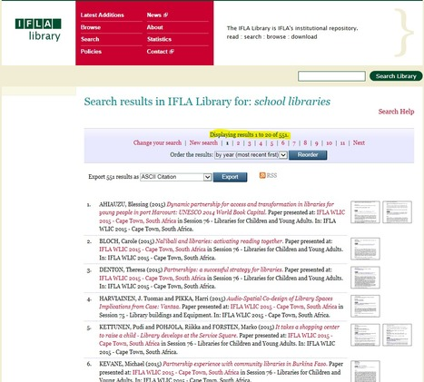 IFLA Library | School Libraries around the world | Scoop.it