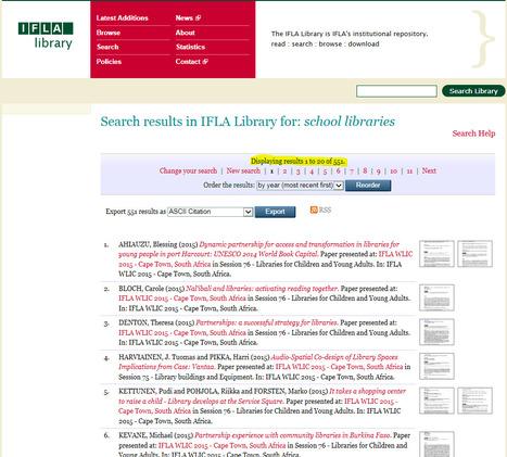 IFLA Library | Schoolmediatheken | Scoop.it
