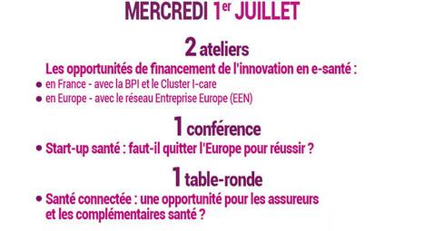 Financement de l'innovation en e-santé à l'honneur de l'Université d'été de la e-santé, le 1er juillet 2015, avec BPI France, Réseau Entreprise Europe, I-Care Cluster, Medicen, Harmonie Mutuelle | Aie-Santé | Scoop.it