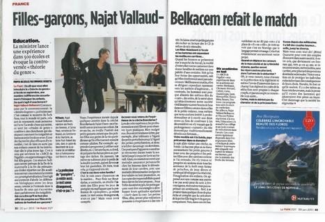 Entretien dans LePoint : «Filles-garçons, Najat Vallaud- Belkacem refait le match» Najat Vallaud-Belkacem   Egalité hommes-femmes   Scoop.it