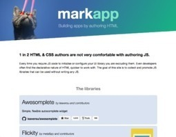 Markapp: A list of HTML libraries | Lea Verou | Web tools and technologies | Scoop.it