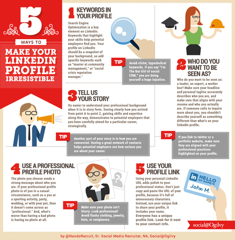 5 Tips to Make Your LinkedIn Profile Irresistible | Awesome ReScoops | Scoop.it