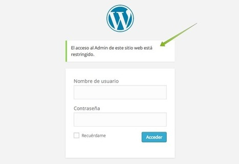 Restringir el acceso al Escritorio de WordPress | AgenciaTAV - Diseño Web y SEO | Scoop.it