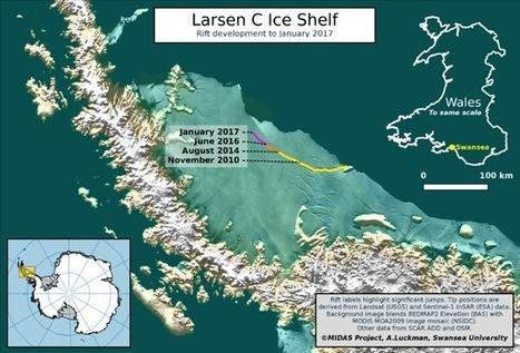 Un enorme iceberg, a punto de desprenderse de la Antártida | GEOGRAFIA SOCIAL | Scoop.it