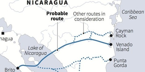 Map - Nicaragua Approves Chinese Tycoon's $40 Billion Dream To Build A Canal Across The Country | Ms. Postlethwaite's Human Geography Page | Scoop.it