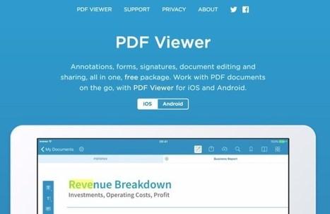 PDF Viewer. Travaillez les Pdf sur votre tablette – Les Outils Tice | Les outils d'HG Sempai | Scoop.it