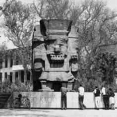 Tláloc se puso de pie en Chapultepec; 50 años, en su ubicación actual | Excelsior (Mexique) | Kiosque du monde : Amériques | Scoop.it