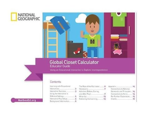 Global Closet Calculator Educator Guide | Language Learning: Digital tools and virtual spaces | Scoop.it