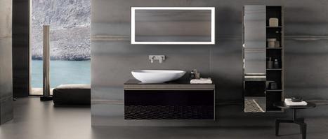 Une salle de bain noir et blanc c'est tendance - Déco-Cool.com | mobilier salle de bain | Scoop.it