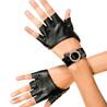 Metallic fingerless gloves