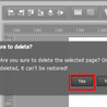 How to delete selected page with Page Editor in PUB HTML5