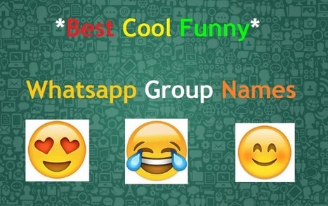 1000+ Best Cool WhatsApp Group Names Collection
