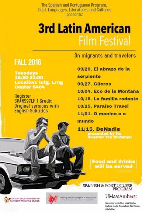 3rd Latin American Film Festival | The UMass Amherst Spanish & Portuguese Program Newsletter | Scoop.it