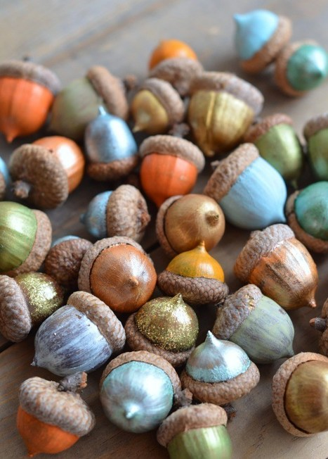 Gearing up for Autumn: How to Paint Acorns | The Miracle of Fall | Scoop.it