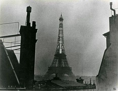 Ilse Bing, Eiffel Tower with the thermometer, ca. 1932 | VIM | Scoop.it