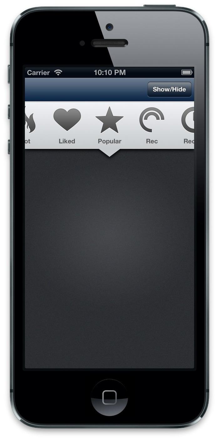 KLHorizontalSelect: a horizontal scrolling menu   iPhone and iPad development   Scoop.it