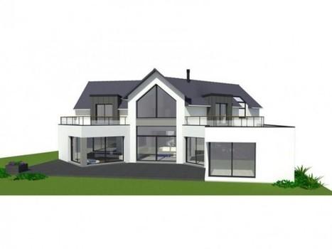 plan maison moderne 180m2. Black Bedroom Furniture Sets. Home Design Ideas