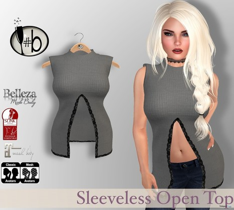 Sleeveless Top with Slit & Lace Accent January 2017 Group Gift by #bubbles | Teleport Hub - Second Life Freebies | Second Life Freebies | Scoop.it