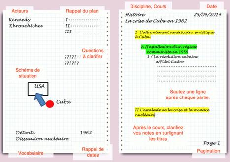 Conseils pour prendre des notes | Ressources en HGEC | Scoop.it