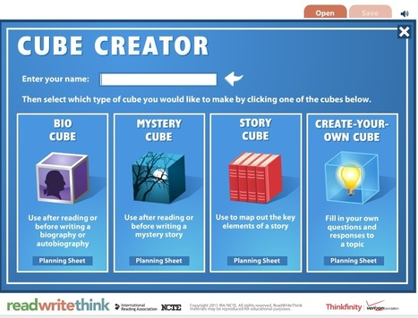 Cube Creator - writing prompts and story generator | Learning Commons | Library Commons | Faculty Services pages|ideas | Scoop.it