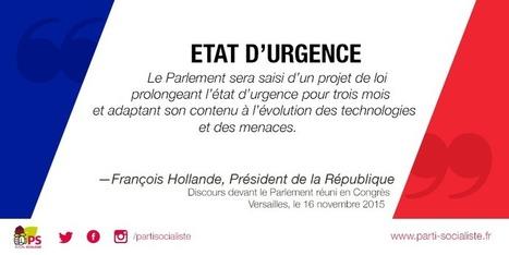 Mesures annoncées par le Président de la République devant le Congrès - lundi 16 novembre 2015   Actualité de la politique française   Scoop.it