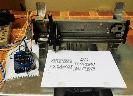 Diy Arduino Uno Cnc Plotter Machine Project Wit
