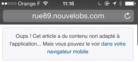 Rue89: un nouveau site mobile pour accompagner l'essor des smartphones | DocPresseESJ | Scoop.it