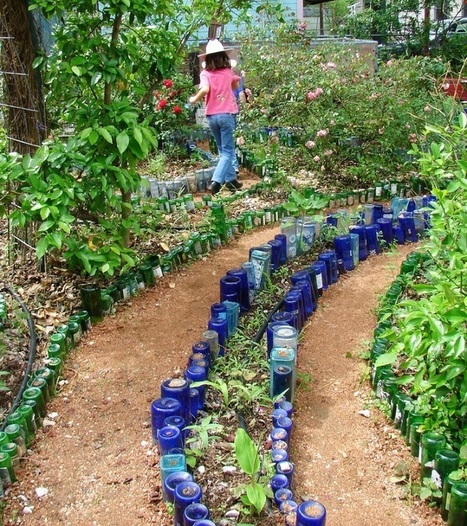 hermosas ideas para decorar el jardn con botellas recicladas mil ideas de decoracin