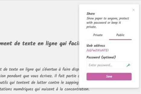 Typen. Un traitement de texte en ligne qui facilite la concentration – Les Outils Tice | outils numériques pour la pédagogie | Scoop.it