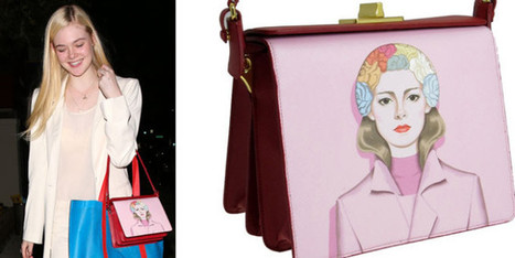 Elle Fanning carrying a Prada SS14 bag   fashion and runway - sfilate e moda   Scoop.it