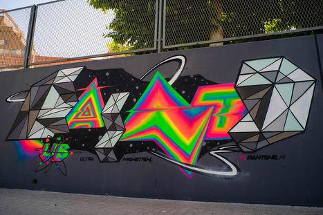 Bling-Bling #Graffiti by Felipe Pantone. #art #streetart #publicart | Luby Art | Scoop.it
