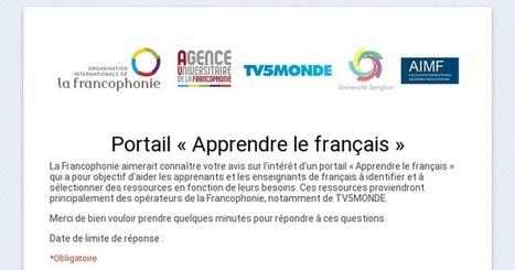Enquête en ligne pour les apprenants et enseignants de français - Portail « Apprendre le français » | TICE & FLE | Scoop.it