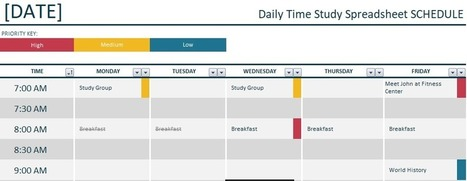 Daily Time Study Spreadsheet Template Excel Fre