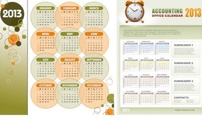 50 Beautiful And Attractive Calendar Design with PSD 2013 | My Checked | Scoop.it