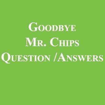 Goodbye Mr Chips Notes Pdf