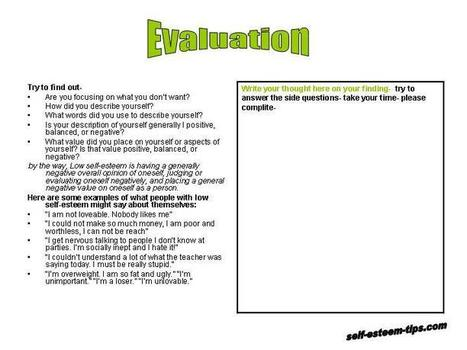 Printables Improving Self Esteem Worksheets improving self esteem worksheets davezan scoop it