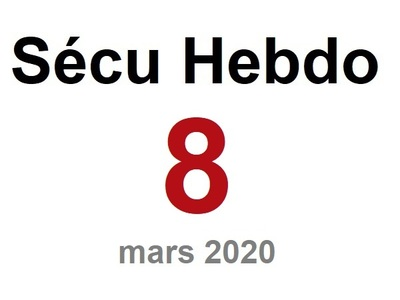 Sécu Hebdo 8 du 21 mars 2020