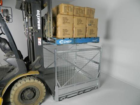 Milford folding pallet Cage | Space saving in the Supply chain | Scoop.it
