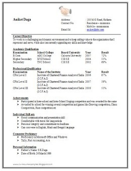 over 10000 cv and resume samples with free download awesome one page resume sample doc for freshers - Resume Sample Doc