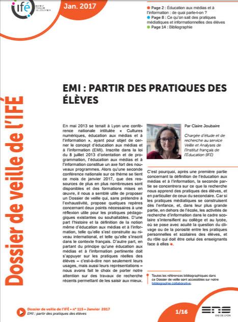 Education aux Médias et à l'Information: Partir des Pratiques des Élèves | Educommunication | Scoop.it