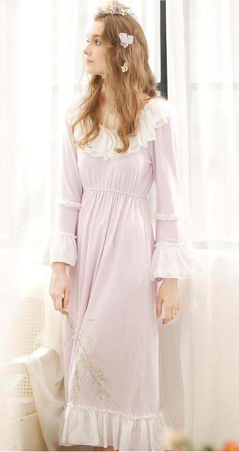 Chiffon ruffled Vintage Cotton Nightdress | my like | Scoop.it