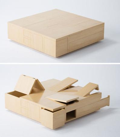 100% Storage: Wooden Table Made Up of Secret Spaces | Designs & Ideas on Dornob | Furniture Design | Scoop.it