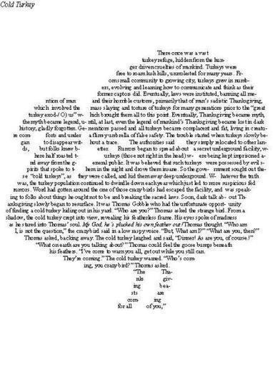 Cold Turkey (A Thanksgiving Tale) | ASCII Art | Scoop.it