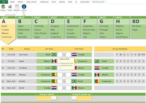 Fifa World Cup 2014 Free Excel Prediction Templ