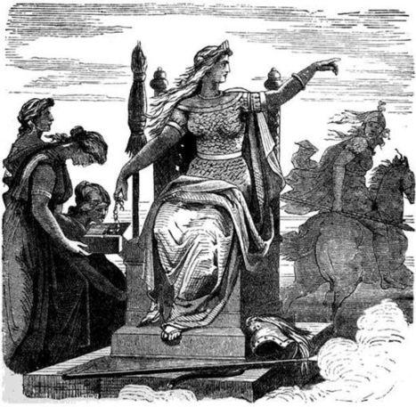 frigga mitología nórdica sco